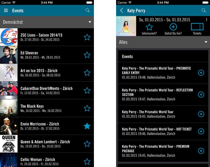 Hallenstadion App