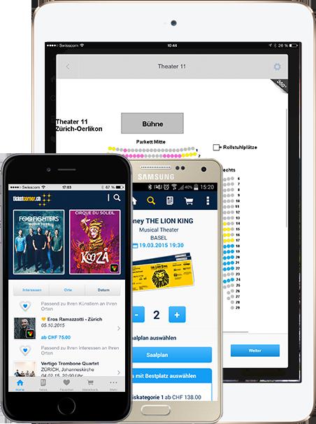 Ticketcorner App für iPhone, iPad & Android