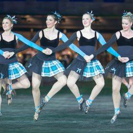 Highland Dancers: Die 36 Tänzerinnen kommen alle aus Australien, wo sie alleine Wettkämpfe bestreiten.