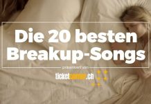 Die 20 besten Breakup-Songs by Ticketcorner